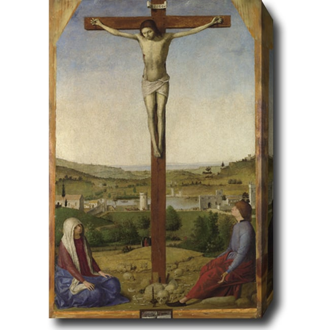 Antonello da Messina 'The Sibiu Crucifixion' Hand-painted Oil on Canvas