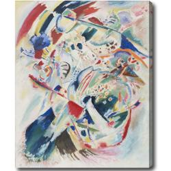Wasily Kandinsky 'Panel for Edwin R. Campbell No. 4' Abstract Hand-painted Oil on Canvas