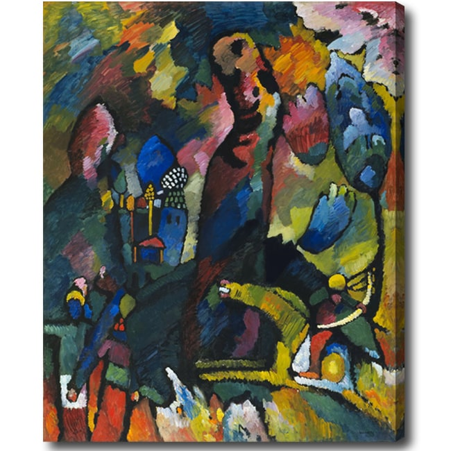 Wasily Kandinsky 'Picture with an Archer' Abstract Hand-painted Oil on Canvas