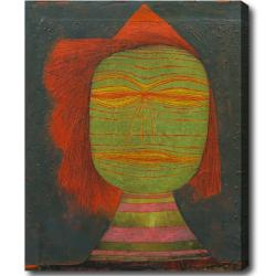 Paul Klee 'Actor's Mask' Abstract Hand-painted Oil on Canvas