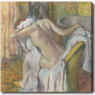 Edgar Degas 'After the Bath, Woman Drying Herself' Hand-painted Oil on Canvas
