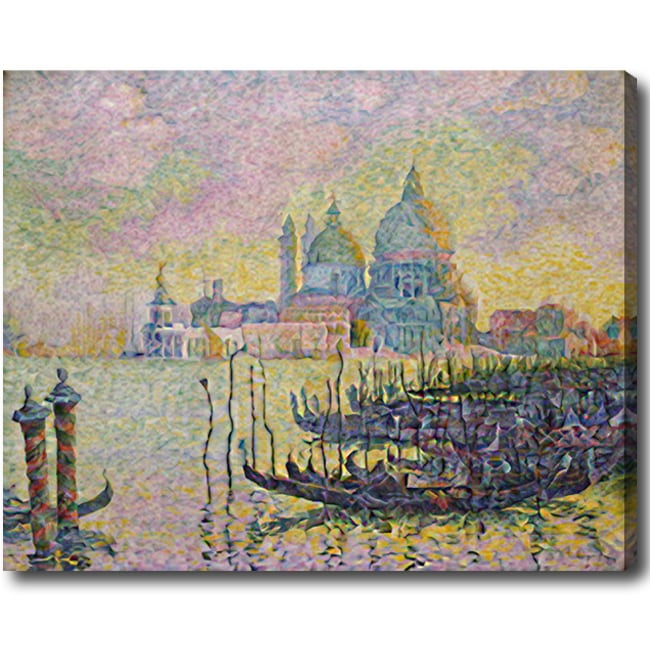 Paul Signac 'Grand Canal in Venice' Hand-painted Oil on Canvas