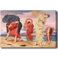 Frederic Leighton 'Greek Girls Picking up Pebbles by the Sea' Hand-painted Oil on Canvas