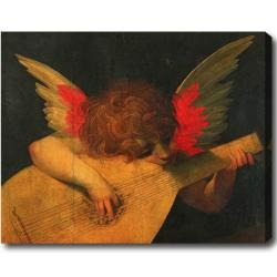 Rosso Fiorentino 'Musician Angel' Hand-painted Oil on Canvas