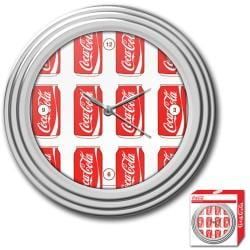 Coca-Cola Cans Style Chrome Wall Clock