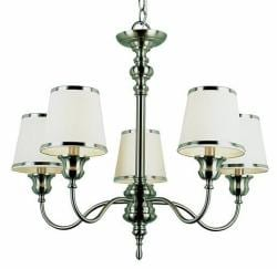 Back to Basics 5-light Bronze/ Nickel Chandelier - Thumbnail 1