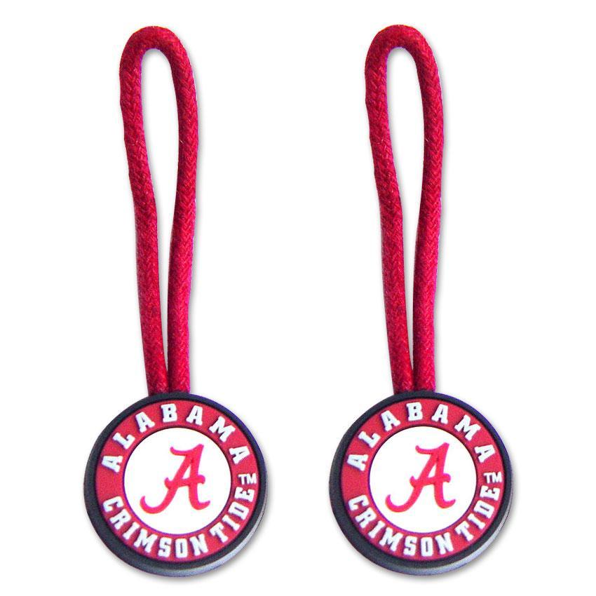 Alabama Crimson Tide Zipper Pull Luggage Tag Set