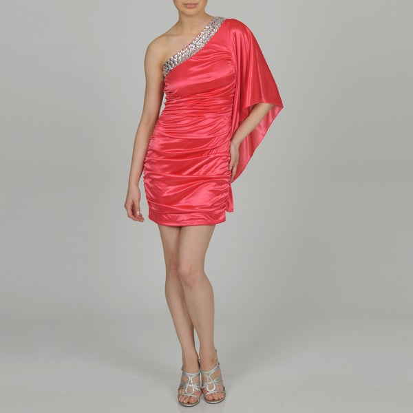 Ruby Rox Junior's Embellished Single-shoulder Party Dress