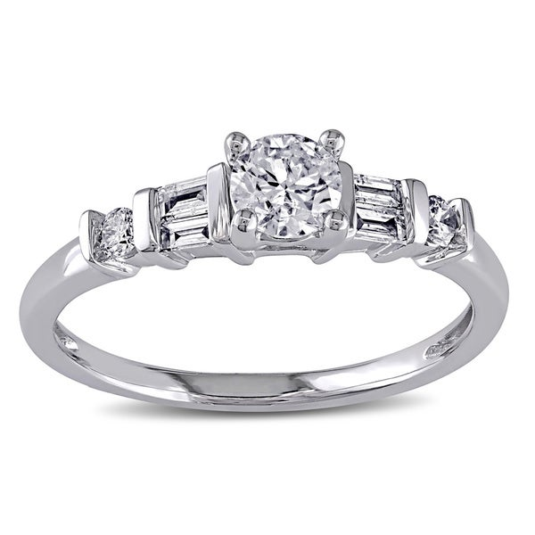 Miadora 14k White Gold 1/2ct TDW Certified Diamond Engagement Ring