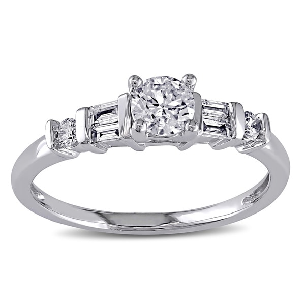 Miadora 14k White Gold 1/2ct TDW Certified Diamond Engagement Ring (G-H, I1-I2)