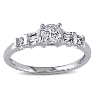 Miadora 14k White Gold 1/2ct TDW Certified Diamond Engagement Ring (G-H, I1-I2)