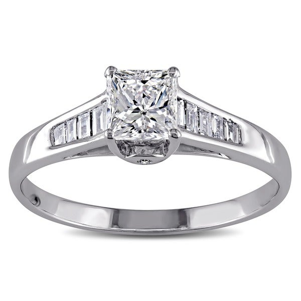 Miadora Signature Collection 14k White Gold 1ct TDW Diamond Engagement Ring (G-H, I1) (IGL)