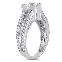 Miadora Signature Collection 14k White Gold 1-1/4ct TDW Diamond Ring