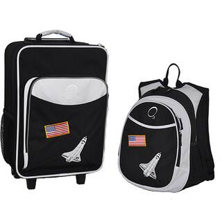Obersee Kids 'Space Shuttle' 2-piece Backpack and Carry On Upright Luggage Set|https://ak1.ostkcdn.com/images/products/6700442/P14252876.jpg?impolicy=medium