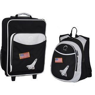 Obersee Kids 'Space Shuttle' 2-piece Backpack and Carry On Upright Luggage Set