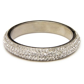 Handmade Saachi Clear Austrian Crystal Bracelet (India)