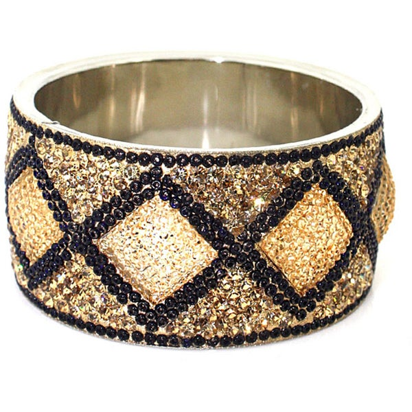 Cleo Black and Crystal Bangle (India)