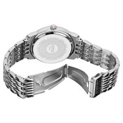 August Steiner Women's Diamond and Crystal Swiss Quartz Bracelet Watch with Pink Dial - Thumbnail 1