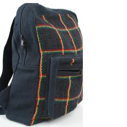Rasta Hemp/ Cotton Backpack (Nepal) - Thumbnail 2
