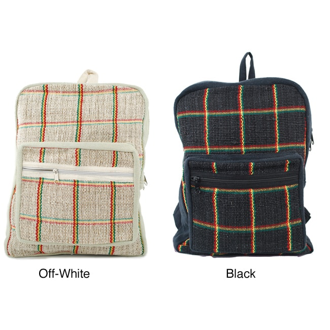Rasta Hemp/ Cotton Backpack (Nepal) - Thumbnail 0