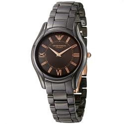 Emporio Armani Women's AR1445 'Ceramic' Brown Dial Quartz Watch