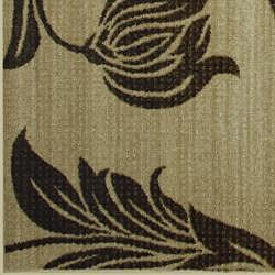Somette Avante Peony Bouquet Beige Rug (5' x 7') - Thumbnail 1