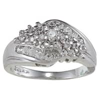 Sterling Essentials Sterling Silver Cubic Zirconia Cluster Ring