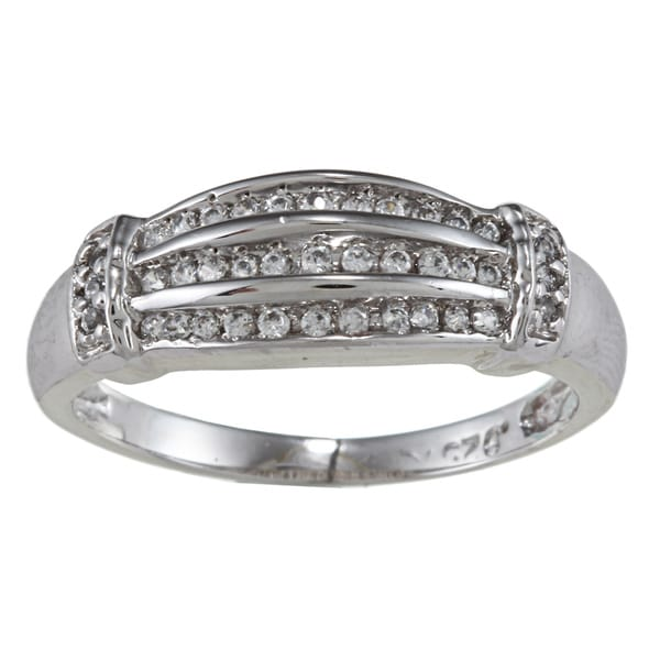 Sterling Essentials Sterling Silver Channel-set Cubic Zirconia Ring