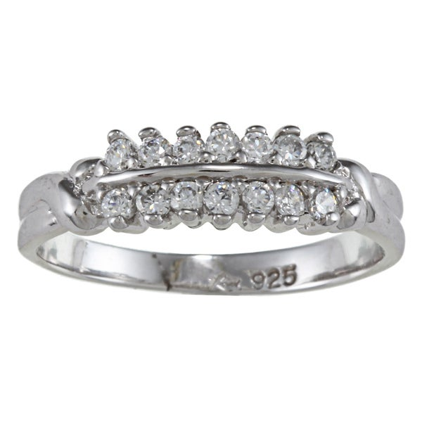 Sterling Essentials Sterling Silver Clear Cubic Zirconia Ring
