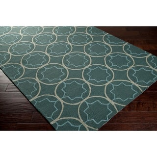 Hand-Hooked Multicolored Rancie Indoor/Outdoor Moroccan Trellis Area Rug - 8' x 8'