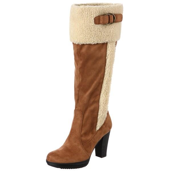 Naturalizer Women's 'Trinity' Tan Wide Calf Boots