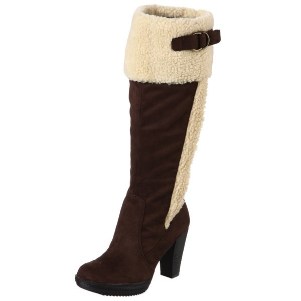 Naturalizer Women's 'Trinity' Brown Wide Calf Boots