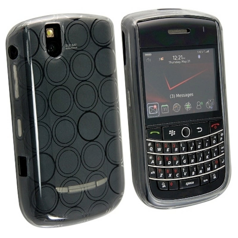 INSTEN Clear Smoke TPU Rubber Phone Case Cover for Blackberry Tour 9630