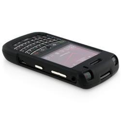 INSTEN Black Snap-on Rubber Coated Case Cover for Blackberry Tour 9630