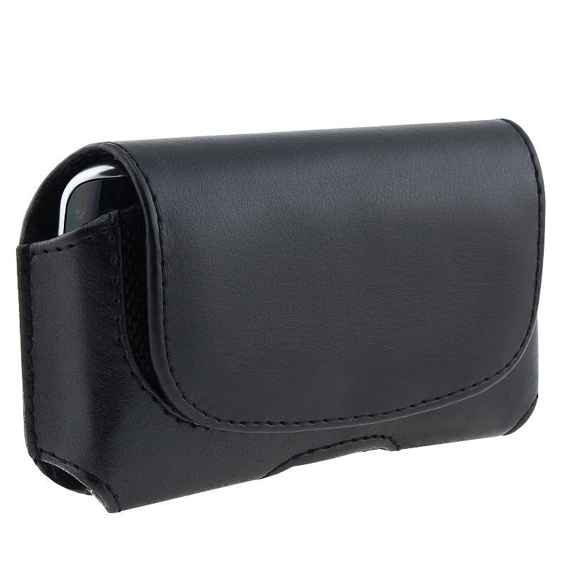 BasAcc Black with Belt Clip Leather Pouch Case for BlackBerry/ HTC/ Motorola/ Pantech/ Samsung Cell Phones