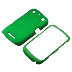 INSTEN Green Rubber Coated Phone Case Cover for Blackberry Curve 9350/ 9360/ 9370 - Thumbnail 1