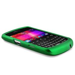 INSTEN Green Rubber Coated Phone Case Cover for Blackberry Curve 9350/ 9360/ 9370 - Thumbnail 2