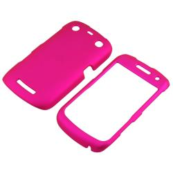 BasAcc Pink Rubber Coated Case for Blackberry Curve 9350/ 9360/ 9370 - Thumbnail 1