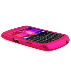 BasAcc Pink Rubber Coated Case for Blackberry Curve 9350/ 9360/ 9370 - Thumbnail 2