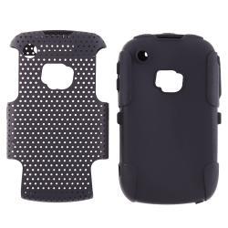INSTEN Black/ Black Hybrid Phone Case Cover for BlackBerry Curve 8520/ 9300