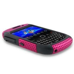 BasAcc Black/ Hot Pink Hybrid Case for BlackBerry Curve 8520/ 9300