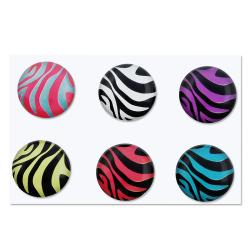 INSTEN Zebra Home Button Sticker for Apple iPhone/ iPad (Pack of 6) - Thumbnail 1