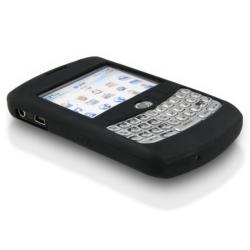BasAcc Black Silicone Skin Case for Blackberry Curve 8300/ 8320