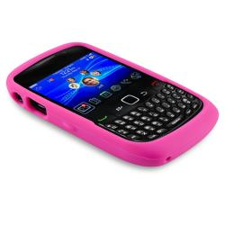 Hot Pink with Quote Silicone Skin Case for BlackBerry Curve 8520/ 9300 - Thumbnail 2
