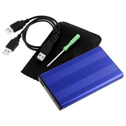 INSTEN Portable Easy-to-install Blue 2.5-inch SATA HDD Enclosure Version Two