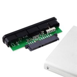 INSTEN Silver 2.5-inch SATA HDD Enclosure Version Two with LED Indicator