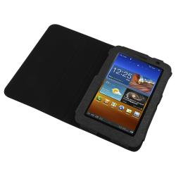 Black Protective Leather Case and Stand for Samsung Galaxy Tab 7.0 - Thumbnail 1