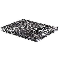Black/ White Leopard Leather Case with Stand for Apple iPad 3/ 4 - Thumbnail 1
