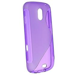 Frost Purple S Shape TPU Rubber Case for Samsung Galaxy Nexus i515 - Thumbnail 1