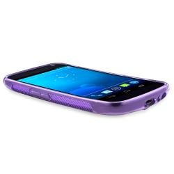 Frost Purple S Shape TPU Rubber Case for Samsung Galaxy Nexus i515 - Thumbnail 2